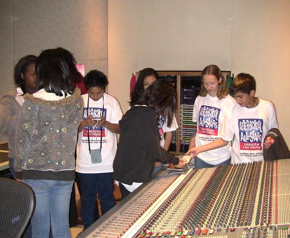 After-School All-Stars visit Studio at the Palms