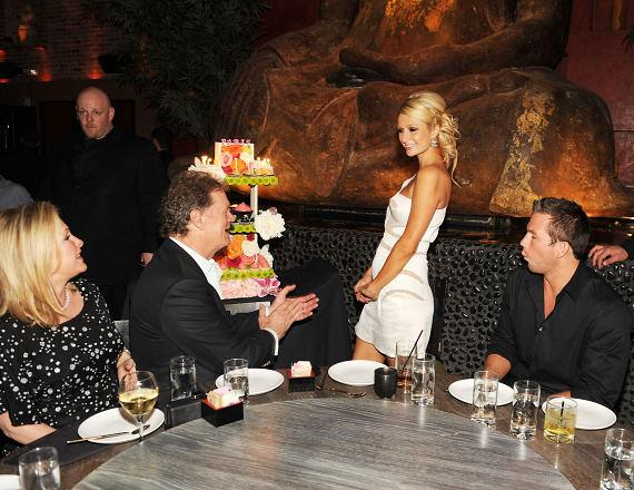 Paris Hilton celebrates 29th birthday at TAO