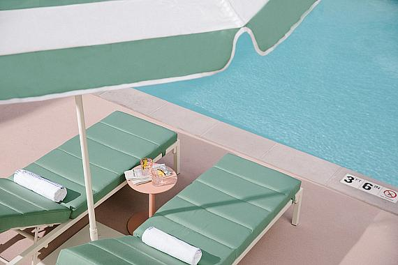 Park MGM Pool Chaise Lounges
