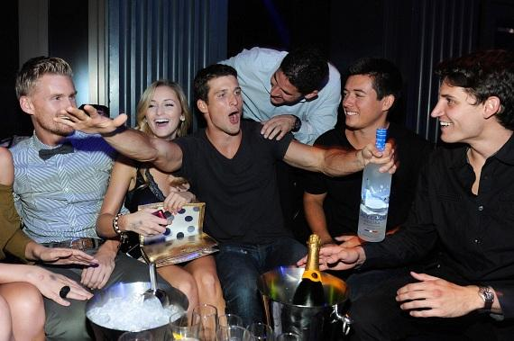 Parker Young Has Some Fun with Friends Inside Chateau Nightclub & Gardens
