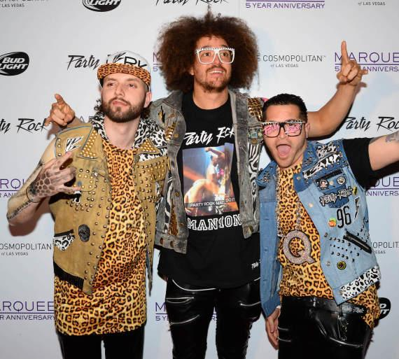 Party Rock Crew on Red Carpet for Marquee Fifth Anniversary