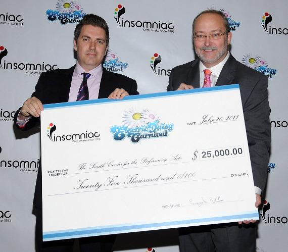Pasquale Rotella, Myron Martin – EDC Check Presentation to The Smith Center for the Performing Arts