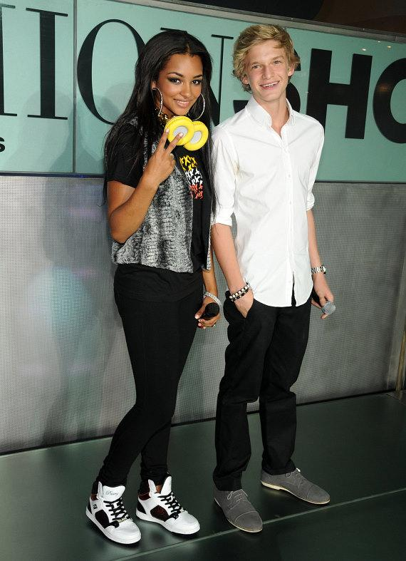 Jessica Jarrell and Cody Simpson at Pastry Shoes fashion show in Las Vegas