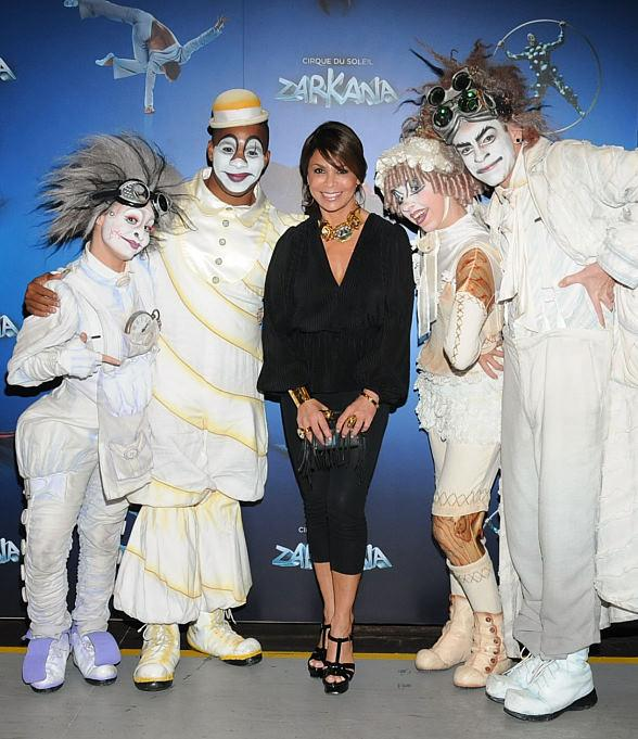 Romany Malco, Paula Abdul Spotted at Zarkana by Cirque du Soleil at ARIA Resort & Casino