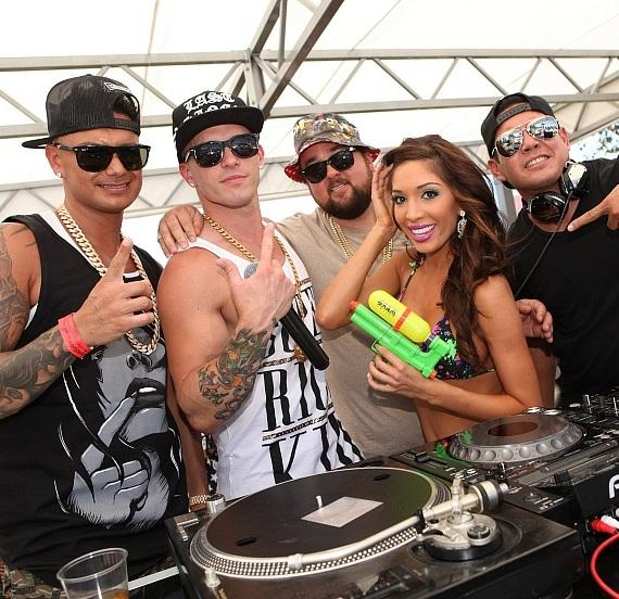 Pauly D, Mikey P, Chumlee, Farrah Abraham and DJ Mark Stylz