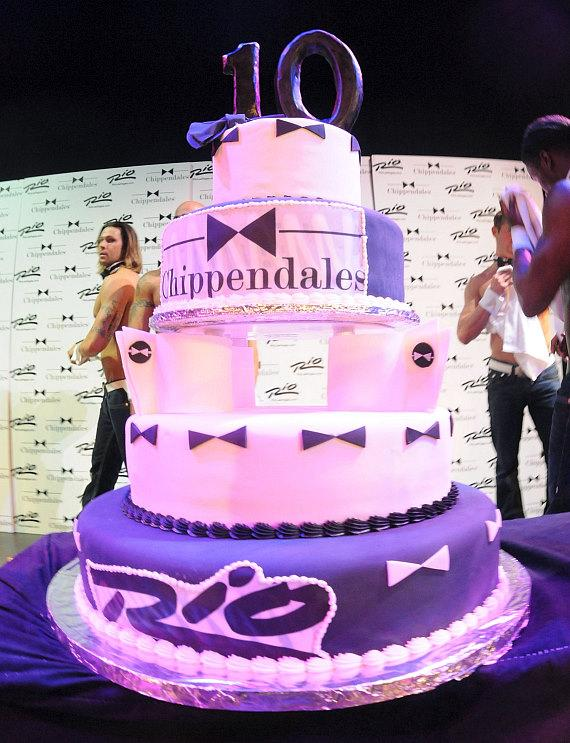 Chippendales 10-Year Anniversary Cake
