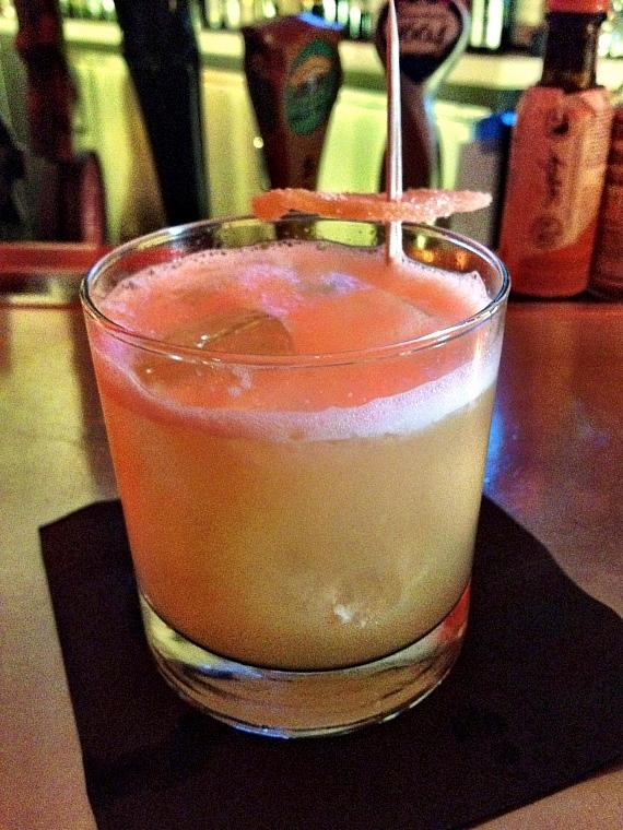 The Penicillin with scotch, lemon, ginger, honey and Islay float