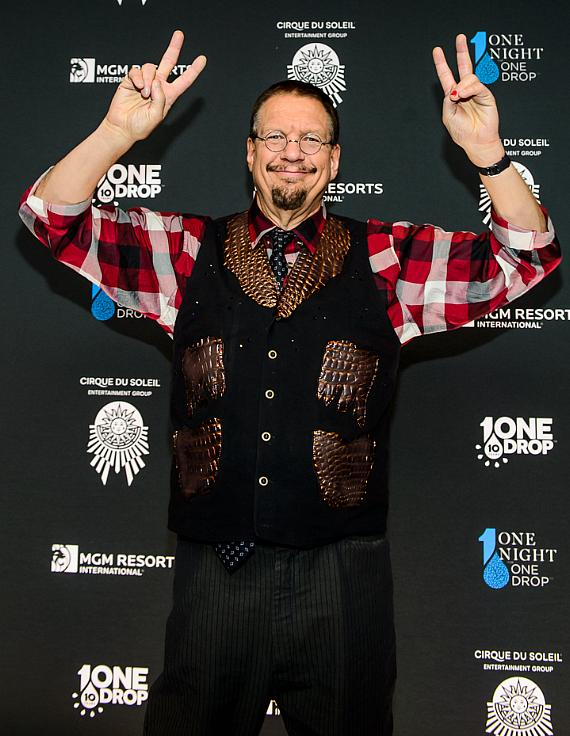 Penn Jillette at the sixth edition of One Night for One Drop imagined by Cirque du Soleil