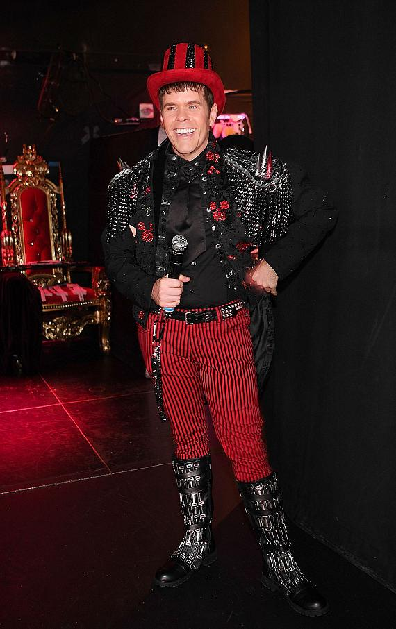 Perez Hilton Backstage at Chippendales