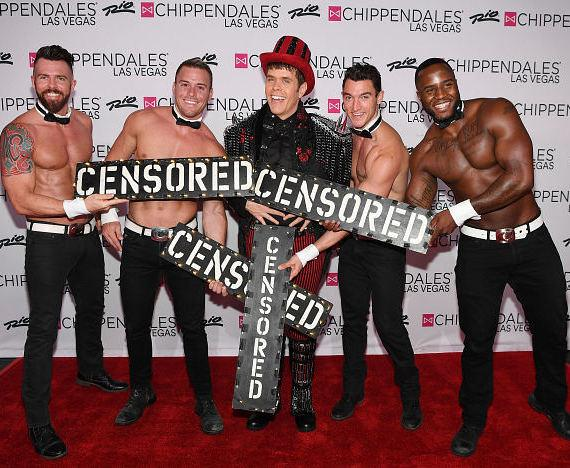 "Perez Hilton ""Censored"" with Chippendales"