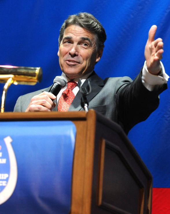 Republican Presidential Candidate Rick Perry speaks at The Venetian Hotel in Las Vegas