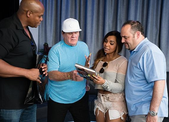 Pete Rose, Frank Thomas, Ashanti and Barry Dakake