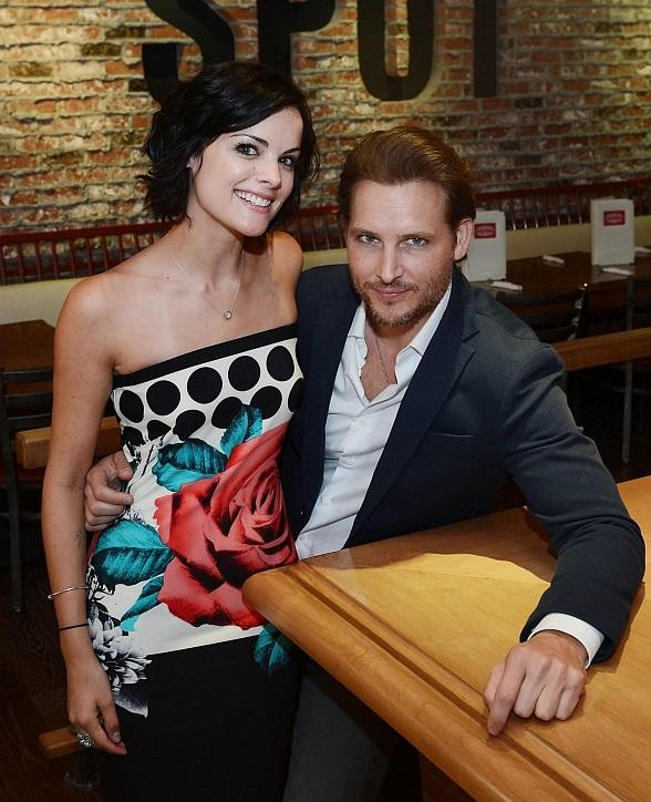 Peter Facinelli and Jaimie Alexander at Meatball Spot