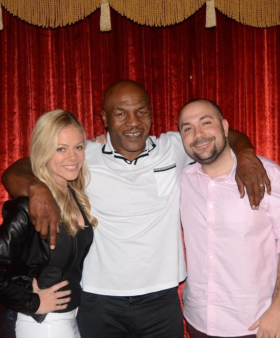 Mike Tyson with DJ Peter Rosenberg