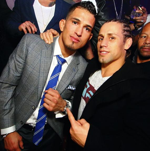 """Anthony """"Showtime"""" Pettis and Urijah Faber"""