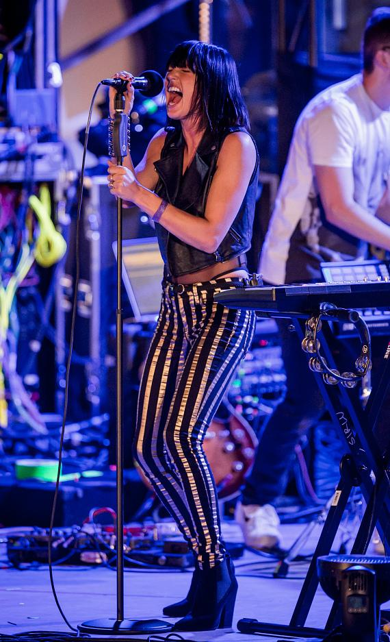 Phantogram performs during OBC presented by X107.5 at Boulevard Pool at The Cosmopolitan
