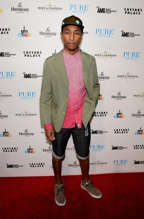 Pharrell Williams on red carpet at PURE Nightclub in Las Vegas