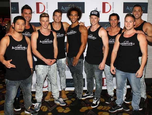 Aussie Hunks Celebrated Show Launch with VIP/Media Grand Opening of Male Revue Residency at the D Las Vegas
