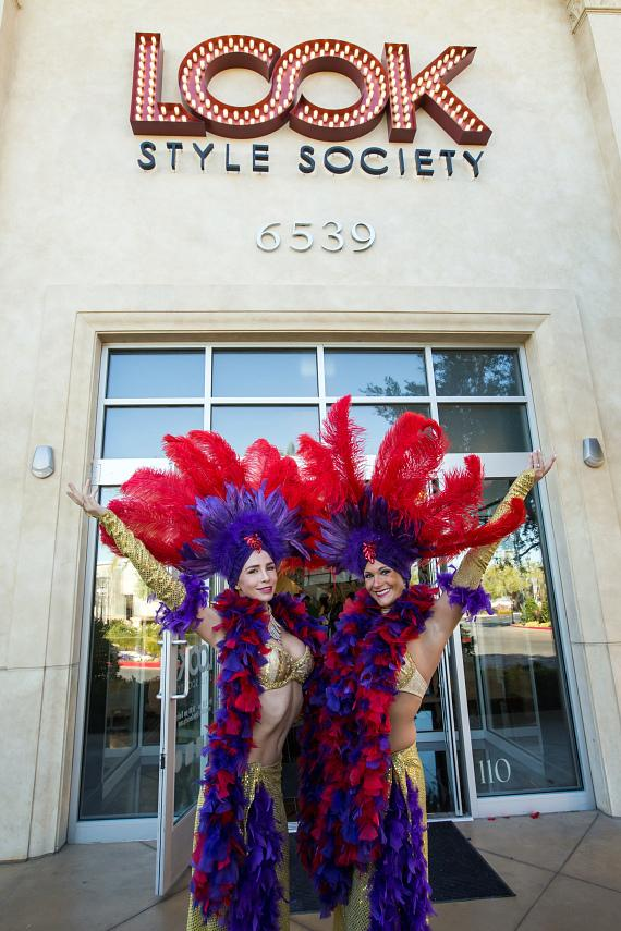 Showgirls in front of LOOK Style Society
