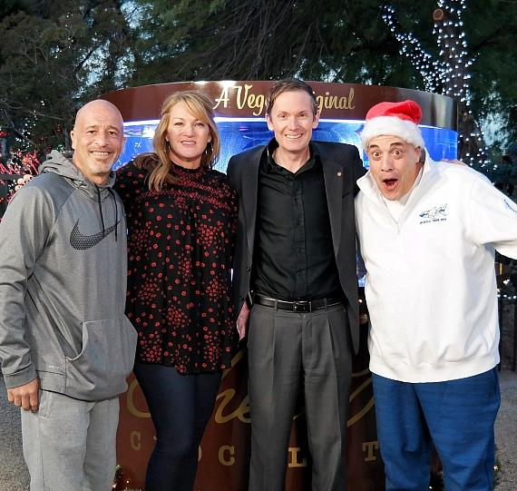 """Tanked"" cast and Oren Young, General Manager of Ethel M Chocolates, unveil Holiday-Themed Aquarium"