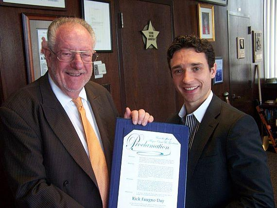 Mayor Oscar Goodman with Rick Faugno on May 25, 2010
