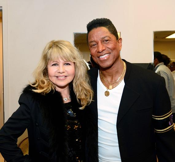 Pia Zadora and Jermaine Jackson