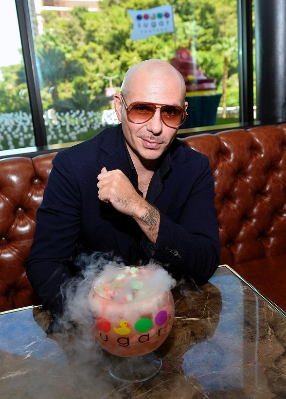 Pitbull, Voli 305, and Sugar Factory American Brasserie Debut Three New Signature Goblets Designed and Tasted by PitBull at Fashion Show in Las Vegas