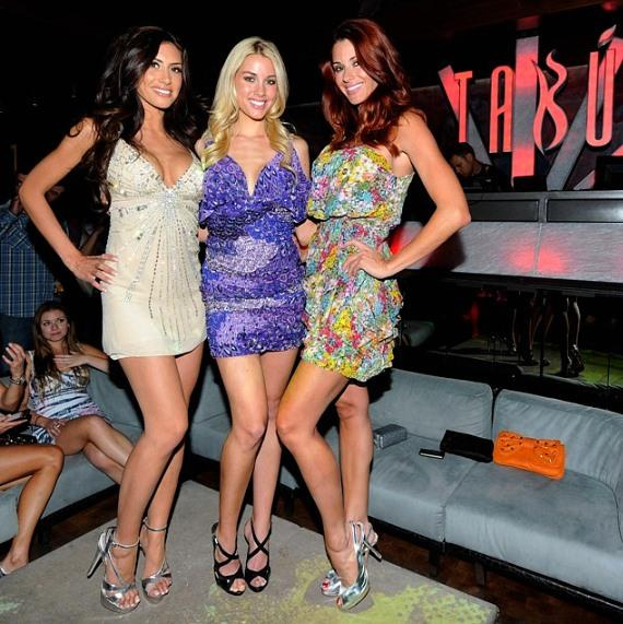 Playboy Playmates at Tabu: Playboy Playmates on Tabu Red Carpet: Heather Rae Young, Danielle Fornarelli, Jaime Edmondson