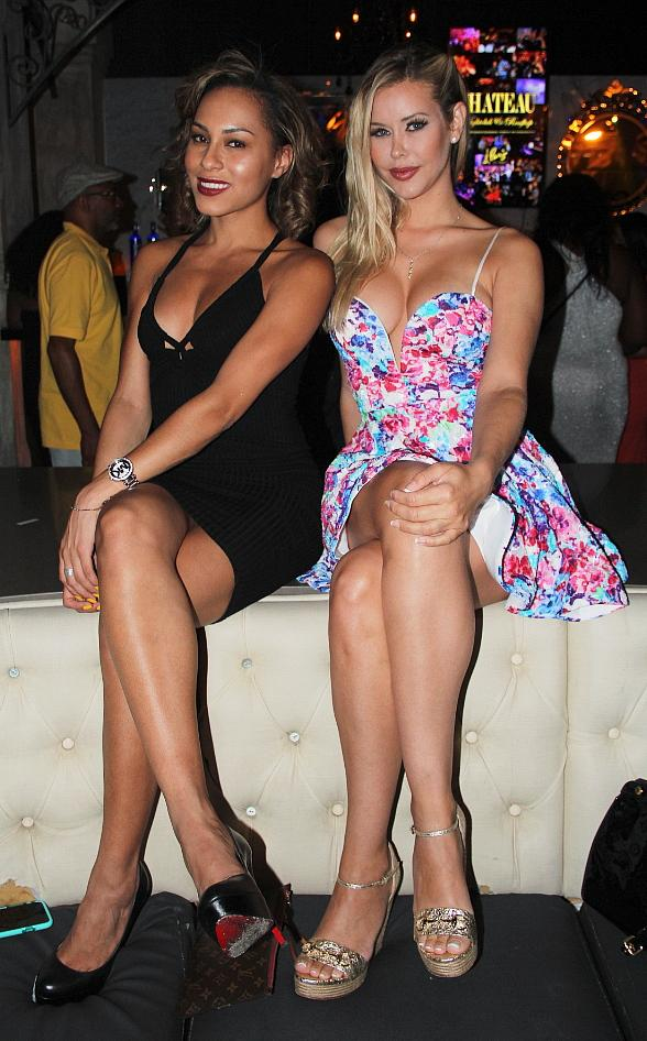 Playboy Playmates Kennedy Summers and Shanice Jordyn Party at Chateau Nightclub & Rooftop