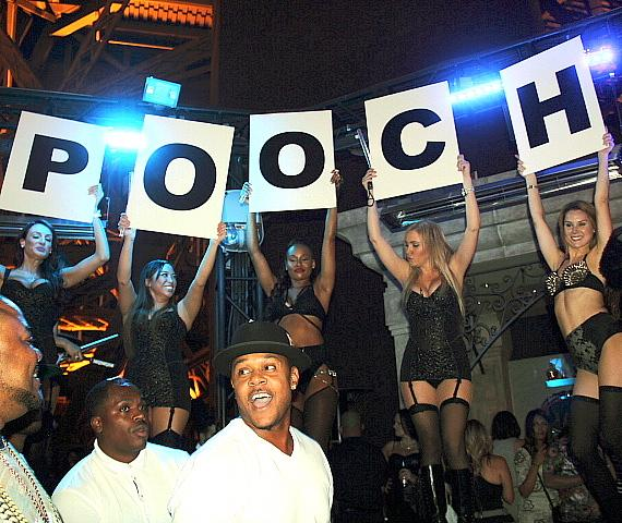 Pooch Hall in VIP Booth with Chateau Girls