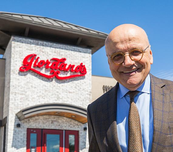 President and CEO Yorgo Koutsogiorgas in front of Giordano's Boca Park