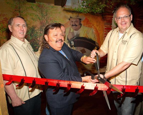 Primm Valley Vice President of Food and Beverage Bill Hiers, Ramon Ayala, and Primm Valley Executive Vice President and General Manager Loren Gill