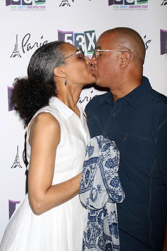Carla Hall and husband Matthew Lyons