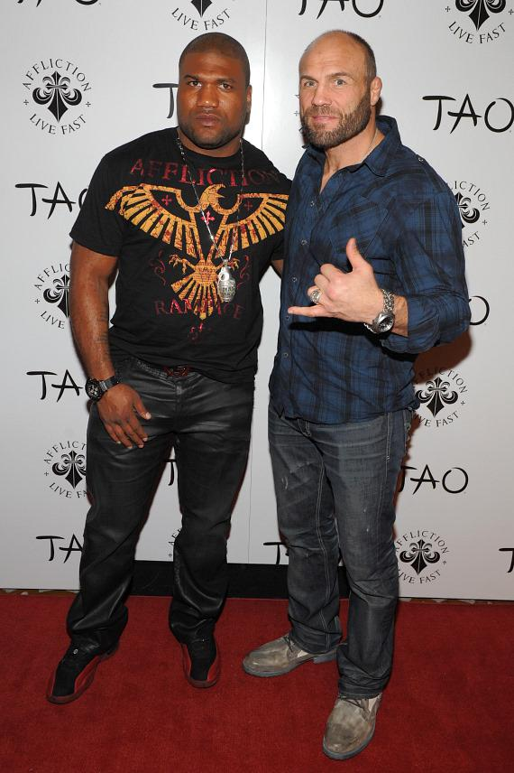 Quinton Rampage Jackson and Randy Couture at TAO