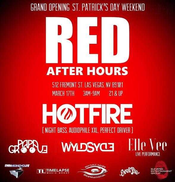 "Jacob Lozano, R.J. Cantu and Natasha Toves with ""DiamondCut Enterprises"" and ""ELEVATED ENTERTAINMENT GROUP"" Presents ""RED AFTER HOURS"" March 17th ST. Patrick's Day Weekend at ""RED NIGHTCLUB DTLV"""
