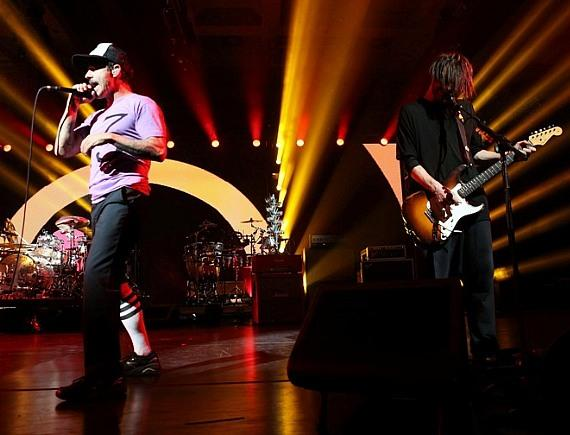 Red Hot Chili Peppers perform at The Cosmopolitan of Las Vegas on NYE