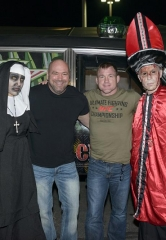 UFC Visitors Dana White and Matt Hughes plus the First Fright Dome Wedding Kick Off Halloween