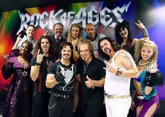 ROCK OF AGES Cast with REO Speedwagon's Dave Amato