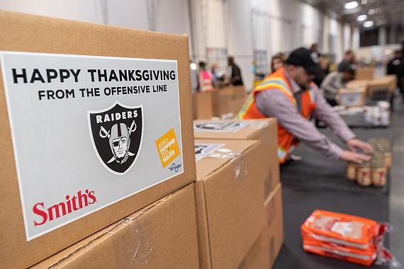 Raiders and Smith's Donation Boxes