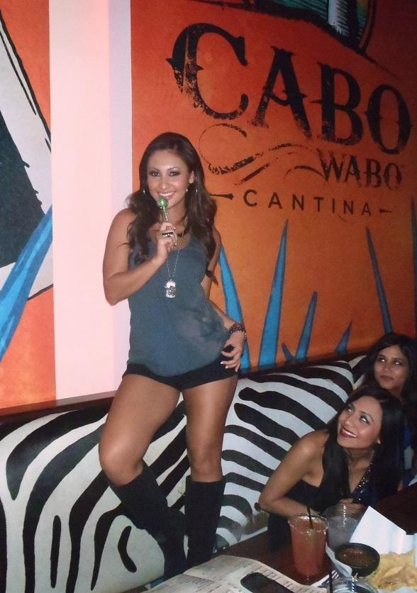 Francia Raisa at Cabo Wabo Cantina