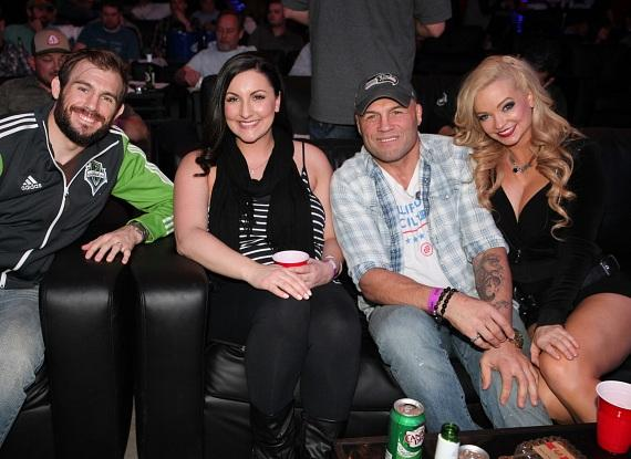 Ryan Couture, Ryan's wife, Rany Couture and Mindy Robinson Ryan