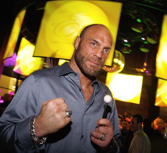 Randy Couture with a Sugar Factory Couture Pop at Eve nightclub