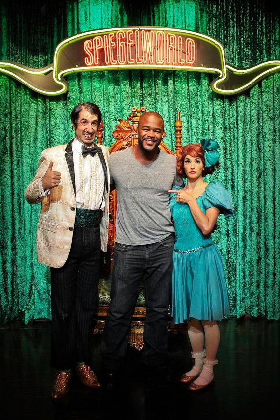 Rashad Evans with The Gazillionaire and Penny Pibbets at ABSINTHE