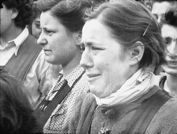 """'Reaction of a Girl' taken by Sgt Lewis, April,17, 1945 in the Holocaust documentary """"Night Will Fall"""""""