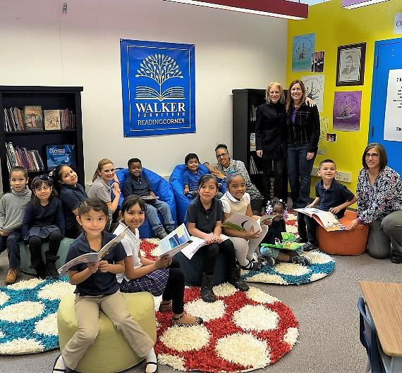 new Reading Corner at Ira J. Earl Elementary School