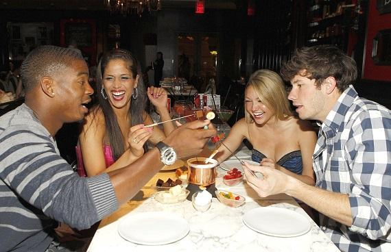 """The Real World"" cast dining on Sugar Factory fondue"