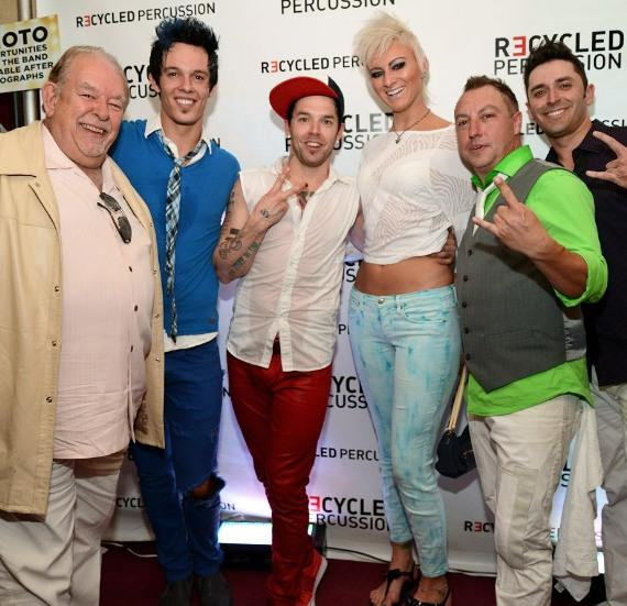 Robin Leach with Recycled Percussion