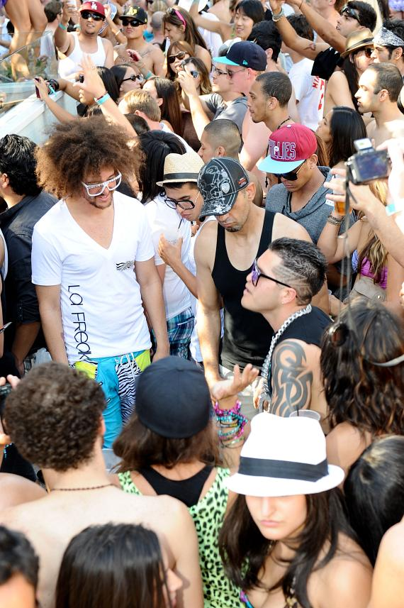 Redfoo and the Party Rock Crew at Marquee Dayclub