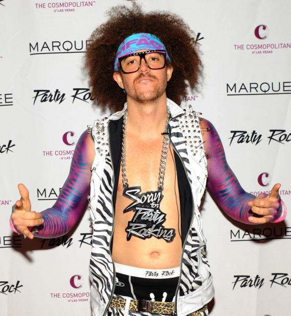 Redfoo of LMFAO at Party Rock Monday in Marquee Nightclub