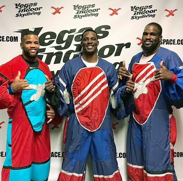 UFC Fighters Rex Harris, Karl Roberson and Corey Anderson Take Flight at Vegas Indoor Skydiving